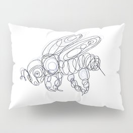 Honey Bee Line Drawing Pillow Sham