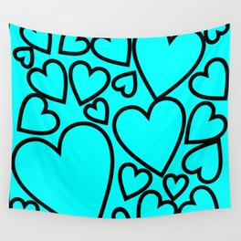 hearts Wall Tapestry