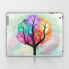 Awesome abstract pastel colors oil paint tree of Life Laptop & iPad Skin