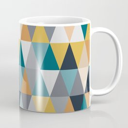 Abstract Triangles in Retro Color Palette Coffee Mug
