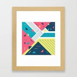 Geometric Memphis Framed Art Print