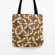 Blue Earth Patch Pattern Tote Bag