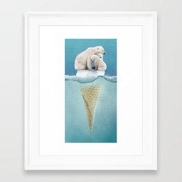 polar ice cream cap 02 Framed Art Print