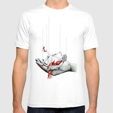Lady in Red Mens Fitted Tee White MEDIUM