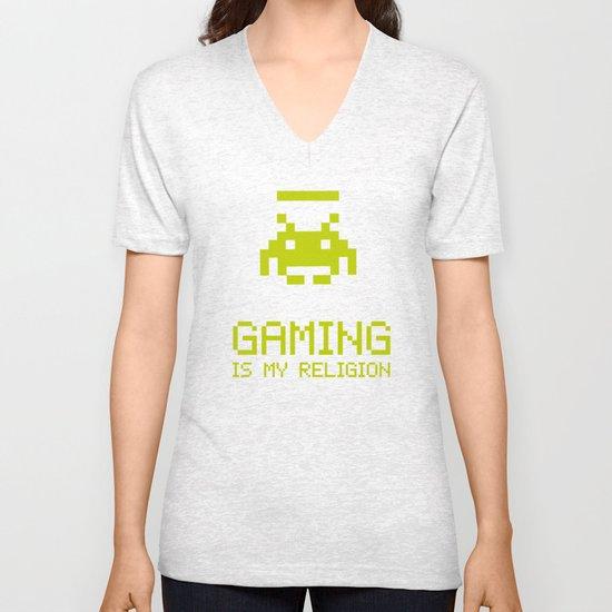 Gaming is my religion Unisex V-Neck