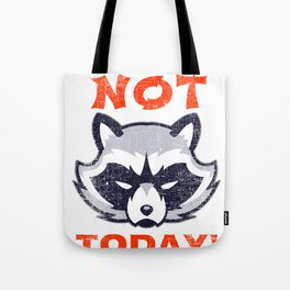 Vintage Grumpy Raccoon Not Today! Tote Bag