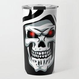 Skull tribal tattoo Travel Mug