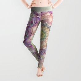 Watercolor Fibonacci Spiral Leggings