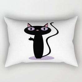 Standing Birdie Cat Rectangular Pillow