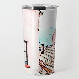 Tortora glimpse with window and roof Travel Mug