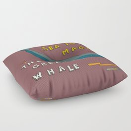 The Great Whale Floor Pillow