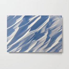 Snowdrifts, field in winter Metal Print