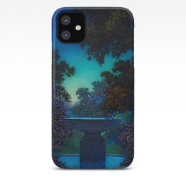 Blue Fountain at Twilight by Maxfield Parrish iPhone Case