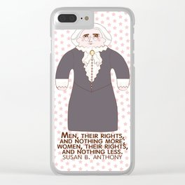Susan B Anthony Clear iPhone Case