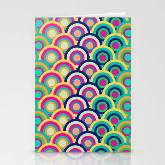 Circle colors Stationery Cards