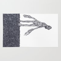 muscle Area & Throw Rugs featuring Muscle Man by Nick Gibney
