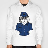 police Hoodies featuring Police Kitty by Sofy Rahman
