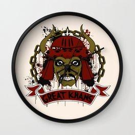 Great Khans Wall Clock
