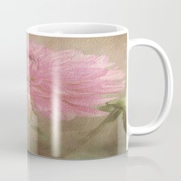 Soft Graceful Pink Painted Dahlia Coffee Mug