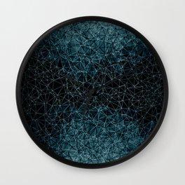 Polygonal blue and black Wall Clock