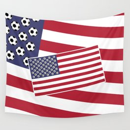 United States of Soccer Wall Tapestry