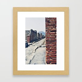 Vesuvius Beckons  Framed Art Print