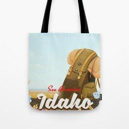 See America - Idaho Backpacking travel poster Tote Bag