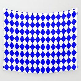 Diamonds (Blue/White) Wall Tapestry