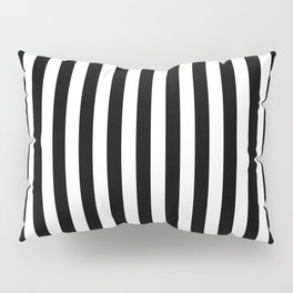 Abstract Black and White Vertical Stripe Lines 15 Pillow Sham