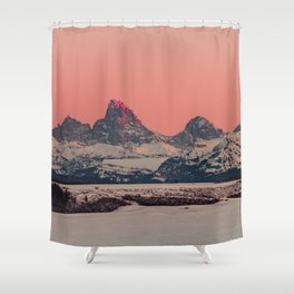 SUNSET AT THE GRAND TETONS Shower Curtain
