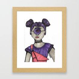 Grunge Cyclops Framed Art Print