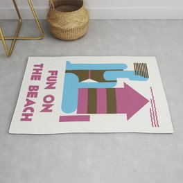Fun on the beach jazz age Rug