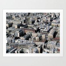 Paris Architecture from above Art Print