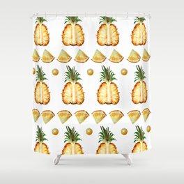 Pineapple dance Shower Curtain