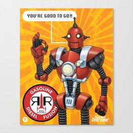 Red Rocket Robot Canvas Print