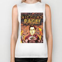 nicolas cage Biker Tanks featuring Nicolas Rage by Butt Ugly Co
