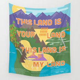 This Land is Your Land This Land is My Land Wall Tapestry