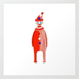Spooky Halloween Clown Serial Killer John Wayne Gacy Art Print