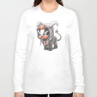 eevee Long Sleeve T-shirts featuring Facing certain Doom by Randy C