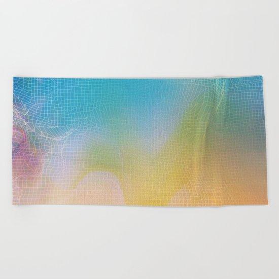 Glitch 11 Beach Towel