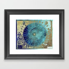 Wind Rose Map Framed Art Print