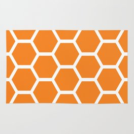 Orange Honeycomb Rug