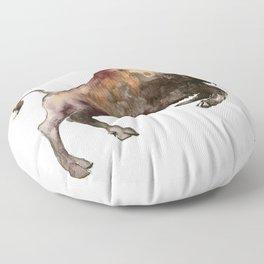 Bison, Bull, animal woodland, bison art, wildlife design Floor Pillow