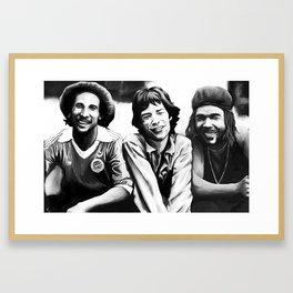 Music meeting Framed Art Print