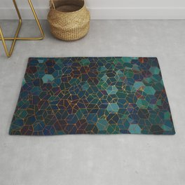 Organic Chemistry - Blue and Copper Rug