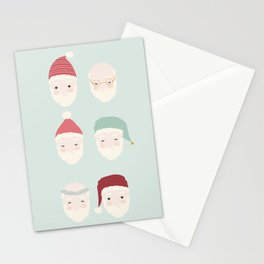 Santas - Mint Stationery Cards