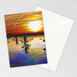 Sunset Over The Paddie Fields | Oil Painting Stationery Cards