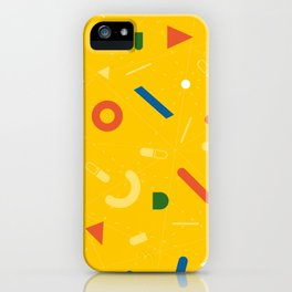 Almost Friday - pattern yellow iPhone Case