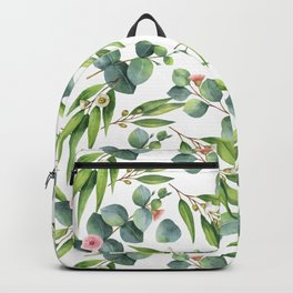 Bamboo and eucaliptus pattern Backpack