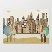 montreal Canvas Prints featuring montreal by bri.buckley